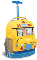 J World Dorthey School Bus Rolling Backpack