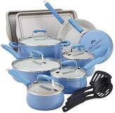 Paula Deen Savannah Collection Aluminum Nonstick 17-Piece Set in Blueberry
