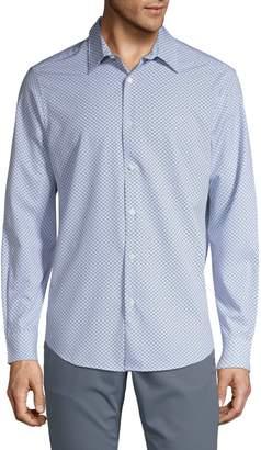 Perry Ellis Stretch-Fit Geometric Shirt