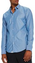 Scotch & Soda Long Sleeve Poplin Shirt, Blue