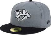 New Era Nashville Predators Gray Black 59FIFTY Cap