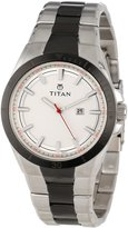 Titan Men's 9381KM05 Octane Fueled Stainless Steel Date Function and Luminous Hands and Markers Watch