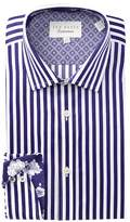 Ted Baker Striped Trim Fit Dress Shirt