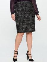 ELOQUII Plus Size Tweed Pencil Skirt