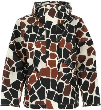 MONCLER GENIUS Moncler 1952 Freesia Giraffe Print Jacket