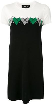Paule Ka Heart Intarsia Knitted Dress