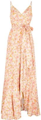 Jonathan Simkhai Ava floral-print linen-blend maxi dress
