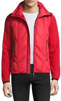 Moncler Puffer-Front Zip Sweater