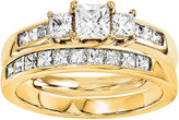 MODERN BRIDE 1 3/4 CT. T.W. Diamond 14K Yellow Gold Bridal Set