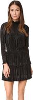 Shoshanna Burnout Velvet Ruffle Dress