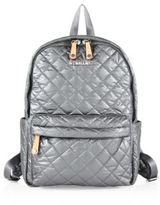 M Z Wallace Oxford Metro Quilted Metallic Nylon Backpack