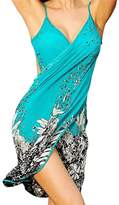 Bulacker Women's Sexy Backless Cross Sarongs Style Beachwear Ice Silk Bikini Cover up