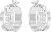 Swarovski Graceful Hoop Pierced Earrings, White