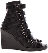 Ann Demeulemeester Leather Buckle Sandals