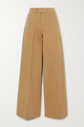 REMAIN Birger Christensen Bernadette Cotton-twill Wide-leg Pants - Sage green