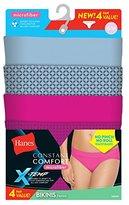 Hanes Women's Standard Constant Comfort Microfiber Bikini 4-Pack Panty