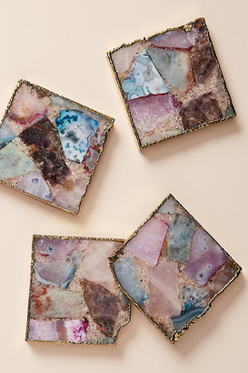 Anthropologie Composite Agate Coaster By in Assorted Size COASTERS