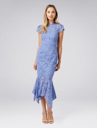Forever New Frankie Petite Lace Maxi Dress - Cornflower - 8