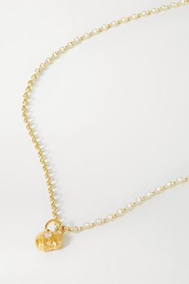 Alighieri A Flash Of Lightning Gold-plated Diamond Necklace