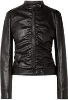 Tom Ford Ruched Leather Biker Jacket - Black