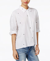 Velvet Heart Yasmine Cotton Star-Embroidered Shirt
