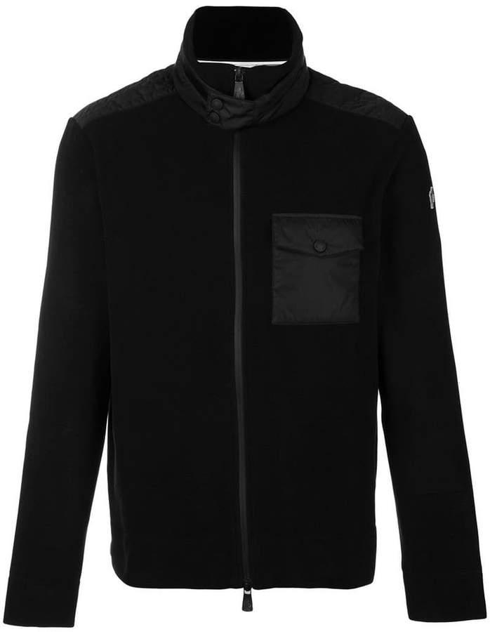 Moncler zip front chest pocket jumper