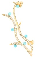 Swarovski Joanna Laura Constantine 18kt Gold-plated Earring With Crystals