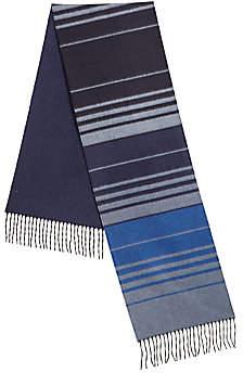 Saks Fifth Avenue Multi-Color Striped Cashmere & Silk Scarf