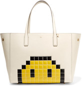 Anya Hindmarch Ebury Embossed Textured-leather Tote - Ivory