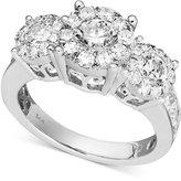 Macy's Diamond Engagement Ring in 14k White Gold (1-1/2 ct. t.w.)