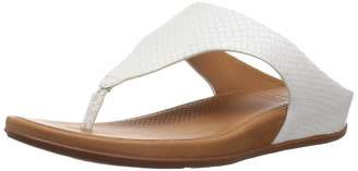 FitFlop Women's Banda Toe-Thong Sandals-Snake-Effect Suede