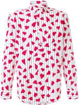 J.W.Anderson heart print pinstripe shirt