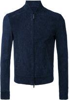 Emporio Armani bomber jacket - men - Goat Skin/Polyester/Spandex/Elastane - 48