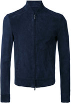 Emporio Armani slim-fit jacket - men - Goat Skin/Polyester/Spandex/Elastane - 48