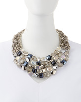 Panacea Crystal Faceted Bib Necklace
