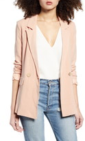 ALL IN FAVOR Double Breasted Linen Blend Jacket