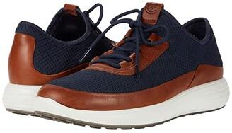 Ecco Soft 7 Runner Summer Sneaker (Amber/Marine) Men's Shoes