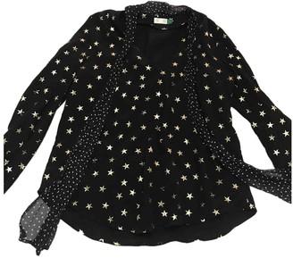 Rixo Black Silk Top for Women