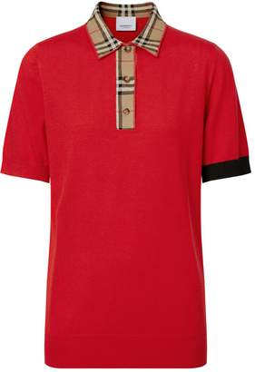 Burberry Icon Trim Polo Shirt