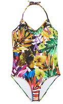 Milly Minis Minis Tropical Print Halter One-Piece Swimsuit (Big Girls)