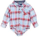 Andy & Evan Boys' Plaid Flannel Shirtzie Bodysuit - Baby
