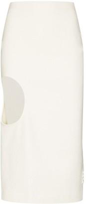 Off-White Cutout Midi Skirt