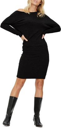 Michael Stars Heather Off-Shoulder Dolman-Sleeve Dress