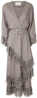 Framed Colorado fringed midi dress