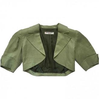 Saint Laurent Green Linen Jackets