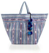 JADEtribe Large Striped Cotton Beach Tote
