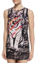 We Are Handsome Instinct Tiger-Print Shift Coverup