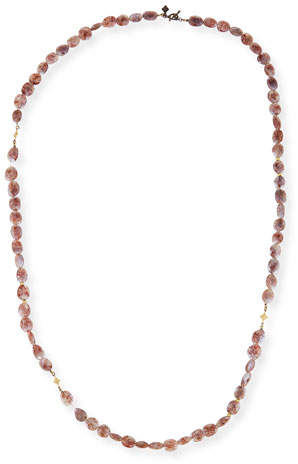 Armenta Old World Crivelli Rose Silverite Beaded Necklace, 36""