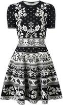 Alexander McQueen jacquard knit mini dress - women - Cotton/Polyamide/Polyester/Viscose - XS