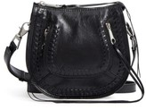 Rebecca Minkoff Mini Vanity Leather Saddle Bag - Black